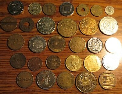 Lot of 30 Foreign Tokens - #1