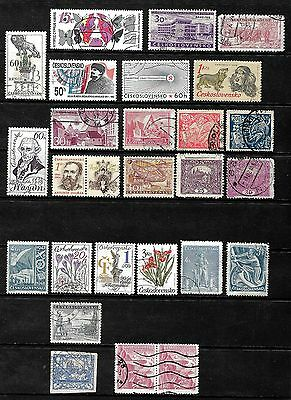 Czechoslovakia...............a Collection Of Postally Used Postage Stamps..80350