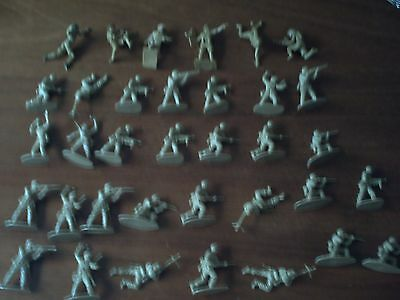 Vintage 29 Airfix 1 32 German Africa Korps + 6 Cherilea 8th Army