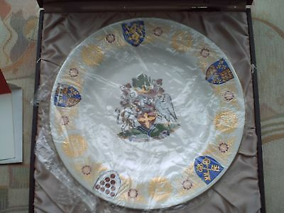 "SPODE 10"" COLLECTOR'S PLATE 'THE TEWKESBURY PLATE' 1971 Ltd edition boxed"