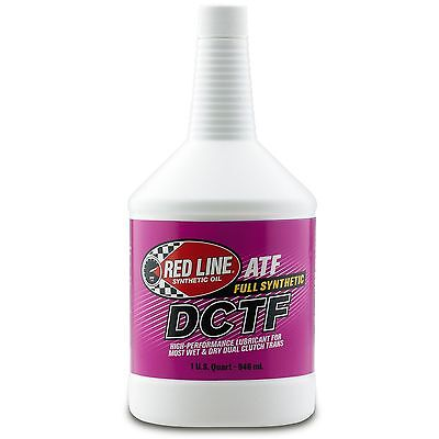 Red Line ATF/DCTF Dual Clutch Synthetic Transmission Fluid/Oil 1 Quart / 946mL
