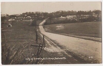 City of London R.F. Camp Tadworth, Surrey 1915 RP Postcard B746