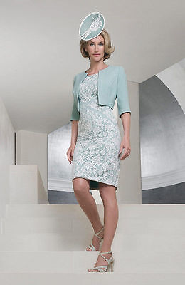 £897 BNWT John Charles 25862 Mother of Bride Groom Lace Dress & Jacket Size 18