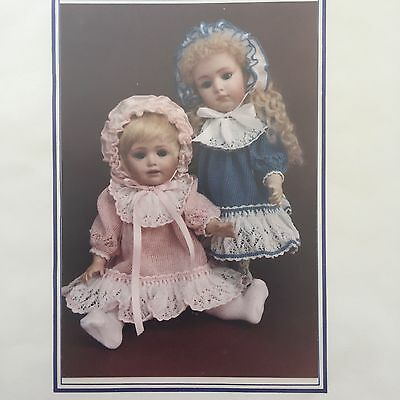 Doris Thurlow Jean Nordquist Collectible Doll Co Knitting Pattern  RARE + HTF