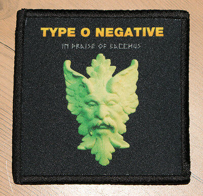 """TYPE O NEGATIVE """"IN PRAISE OF BACCHUS"""" silk screen PATCH"""