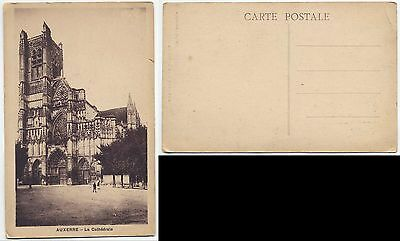 Europe Vintage Postcard - Photo Auxerre - The Cathedral - Low Start Price