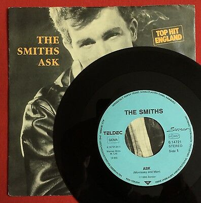 "The Smiths - Ask/Cemetary Gates - Rare German 7"" with Pic sleeve (Vinyl Record)"