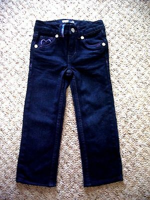 Baby Girls Levi's Jeans Indigo Size 1-2 Years Hearts + Glitter Buttons
