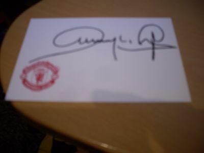 signed card of ex manchester united footballer dwight yorke