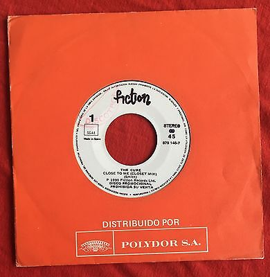 "THE CURE -Close To Me- Very Rare Spanish Promo only 7"" Single /Vinyl Record"