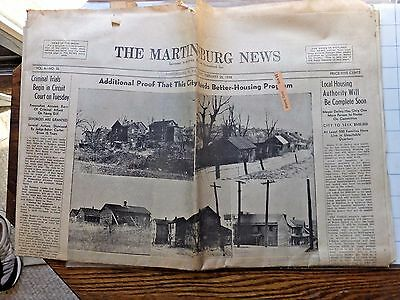 1938 Martinsburg (WV) News -Harpers Ferry to be Nat. Park; Airline service, more