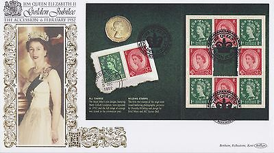 Gb Stamps First Day Cover 2002 Golden Jubilee Sheet Berkshire Benham Royal Mail