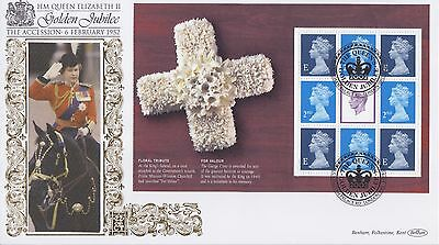 Gb Stamps First Day Cover 2002 Golden Jubilee Sheet London Benham Royal Mail