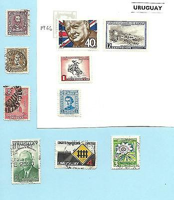 Uruguay Collection, 1945, 1966 MH Winston Churchill, Qty 10