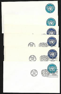 United Nations Pre-Stamped Stationery Mint And First Day Issues 1953 And 1958