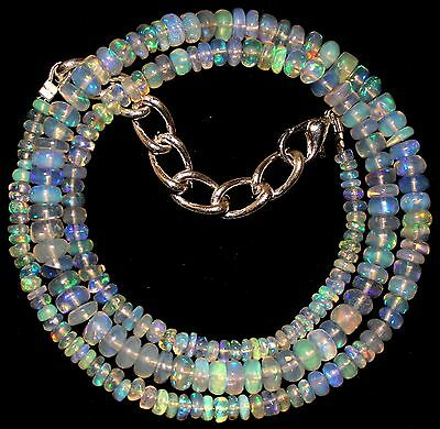 49 Crt 1 Strand 3 mm to 5 mm 16.5 Natural Ethiopian Opal Gemstone Beads 0018