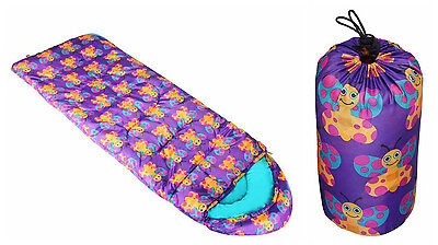 Child's Butterfly Animal Sleeping Bag Water Resistant Insulated Packable Sack