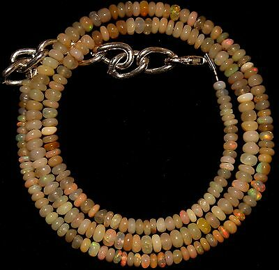 42 Crt 1 Strand 3 mm to 4 mm 17 Natural Ethiopian Opal Gemstone Beads 0031
