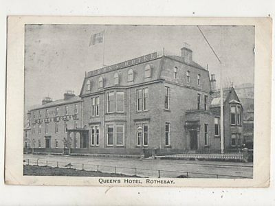 Queens Hotel Rothesay Bute Scotland 1906 Postcard