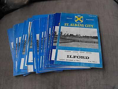 40 St. Albans City Home Programmes 1970 To 1972