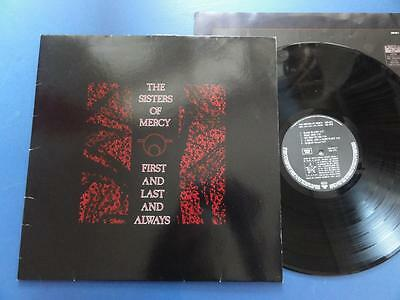 SISTERS OF MERCY  FIRST & LAST & ALWAYS WEA 85 German LP nr EX