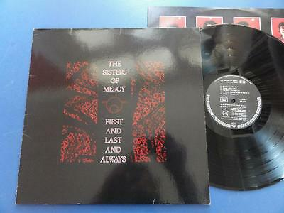 SISTERS OF MERCY  FIRST & LAST & ALWAYS WEA 85 German LP EX-