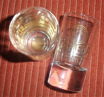 Olmeca Gold Tequila Shot Glasses Set Of Two Brand New