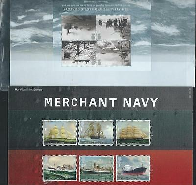 Great Britain POP 2013 Merchant Navy, 6 stamps & Mini Sheet [697]