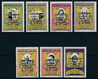 [K37115] Honduras 1966 Pope - Airmail Good set of stamps very fine MNH