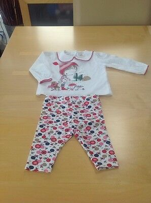 Bnwot Baby Girls Xmas Logo Top & Leggings Set By Tu Age Up To 3 Months 56-62 Cms