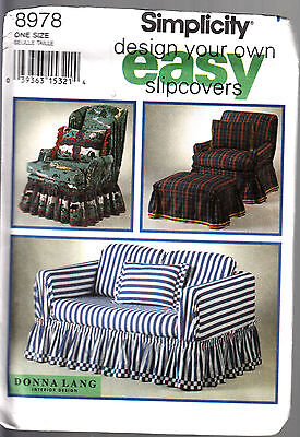 Simplicity Pattern #8978 Design Your Own Slip Covers Donna Lang