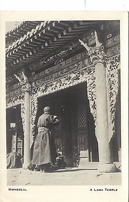 Great Lama Temple, Mongolia RP Postcard. C1920. From Rev Griffith, Shansi, China