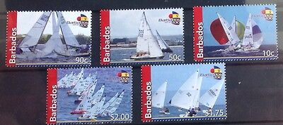 Barbados 2010 Sailing Sg1349/1353 Unmounted Mint Set