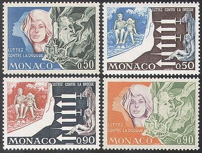 Monaco 1973 Medical/Anti-Drugs/Health/Welfare/Syringe/Children 4v set (n41700)
