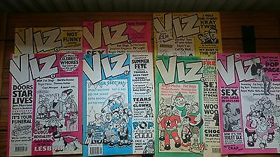Viz comics from 1990 - 1992. 7 comics in total issue 41 42 46 47 48 49 and 51
