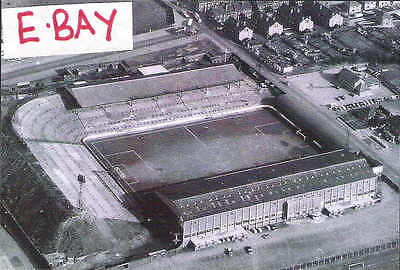 "LEEDS UNITED  ELLAND ROAD  AERIAL PHOTO   1940s 1950s ?  6""x4""  REPRINT"