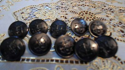 10 WWII US Navy Medical Uniform  PUBLIC HEALTH SERVICE NURSES BUTTONS 1 IN NEW