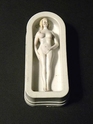 46167. Nude Blonde Bombshell in Tub Magnetic Toy Magic Trick (?) 1930s Celluloid