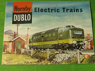 Hornby Dublo Electric Trains Fourth Edition 1962 Catalogue