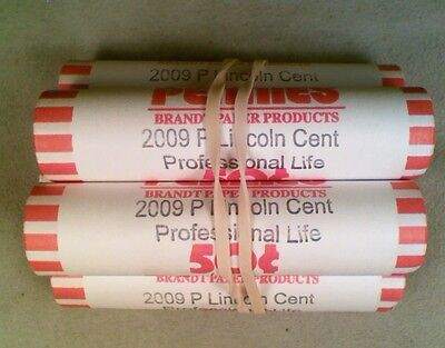 Original BU Bank Wrapped Roll of 2009-P Lincoln Professional Life Cents