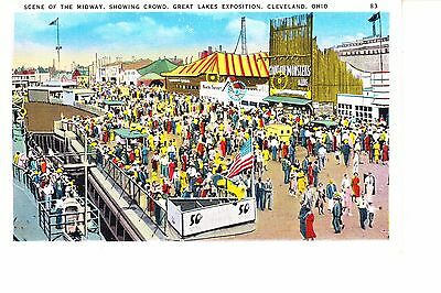 Great Lakes Exposition Midway Scene 1930s  Cleveland, Ohio