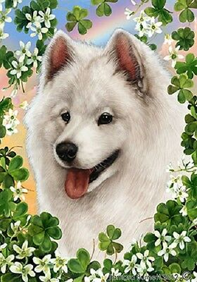 Large Indoor/Outdoor Clover Flag - Samoyed 31077