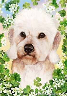 Large Indoor/Outdoor Clover Flag - Mustard Dandie Dinmont Terrier 31210