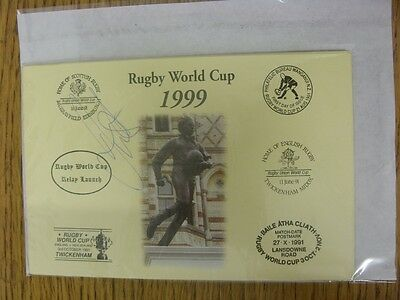 1999 Rugby World Cup Postcard: Hand Signed By West, Dorian [World Cup 'Relay Lau