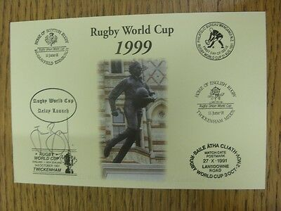 1999 Rugby World Cup Postcard: Hand Signed By Brooks, James [World Cup 'Relay La