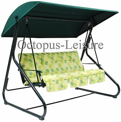 Replacement B&Q Sorrento Sicily green cloth canopy for swing garden hammock