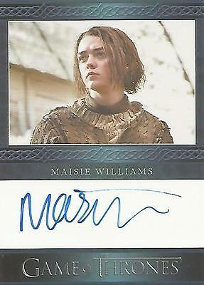"Game of Thrones Season 6 - Maisie Williams ""Arya Stark"" Autograph Card"