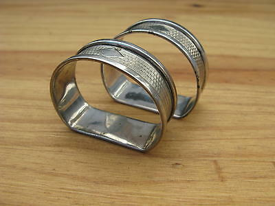 Pair of Vintage Silver Napkin Rings B/ham 1935
