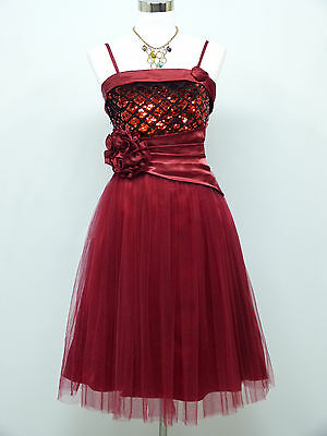 Cherlone Red Prom Ball Evening Formal Wedding Bridesmaid Dress Size 12-14