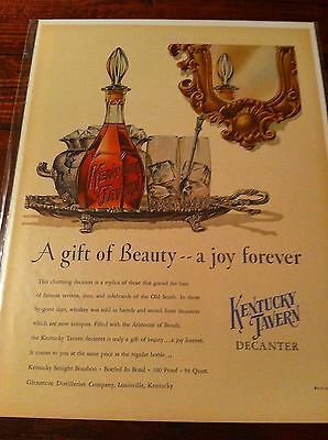 Vintage 1952 Kentucky Tavern A Gift Of Beauty Decanter Print ad